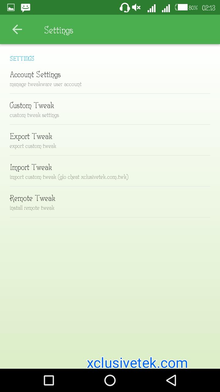 Glo 0 0k Free Browsing And Downloading On Tweakware Using